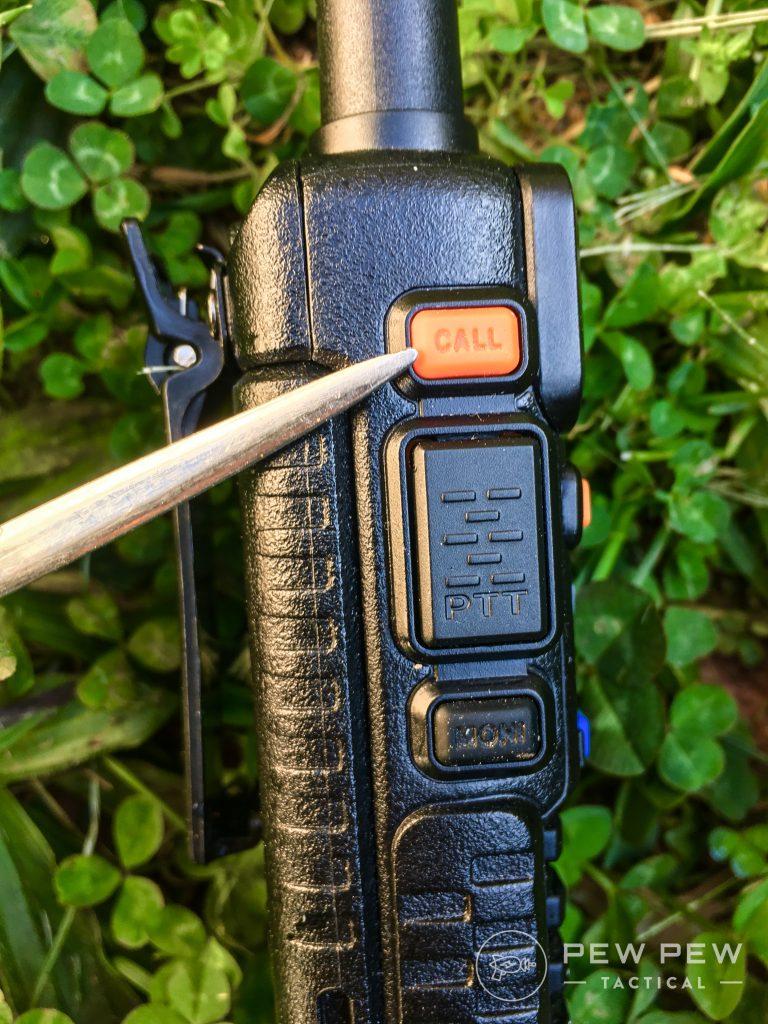 Baofeng UV-5R Call button