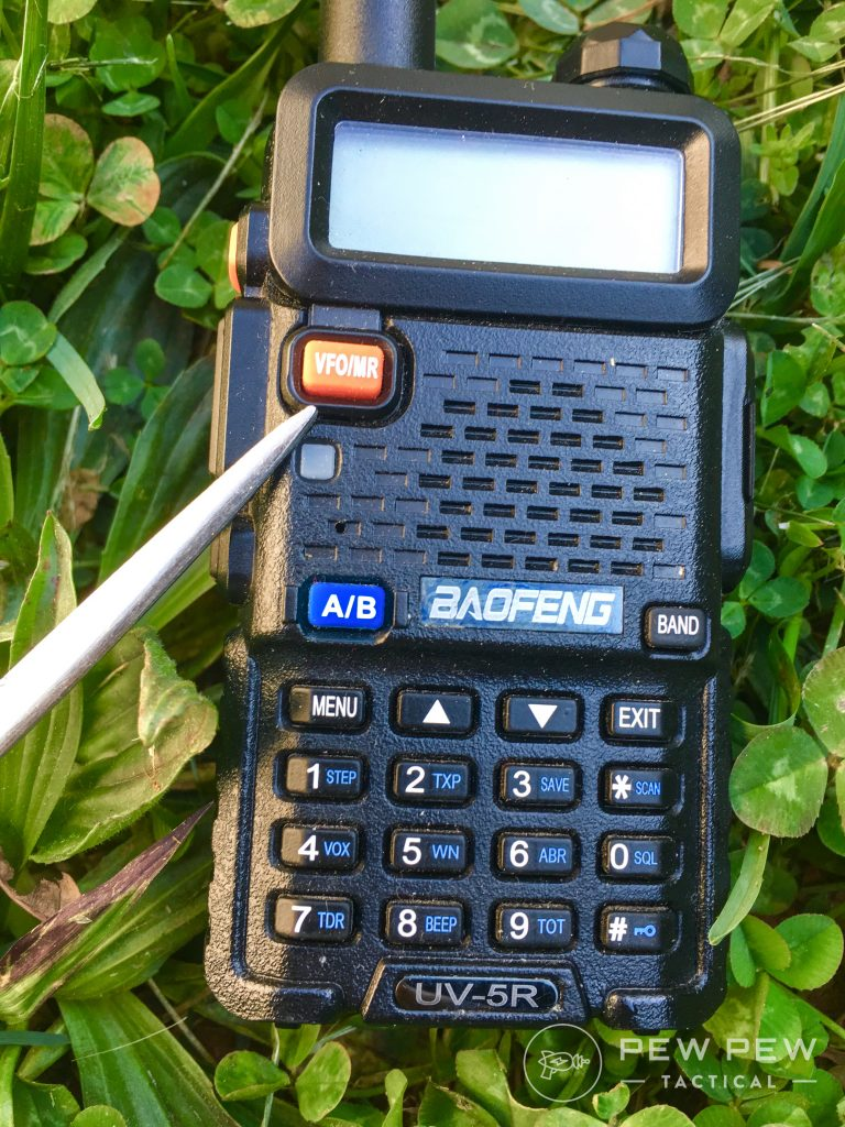 Baofeng UV-5R VFO/MR button