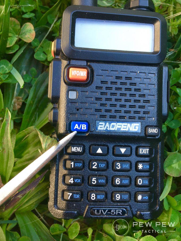 Baofeng UV-5R A/B button