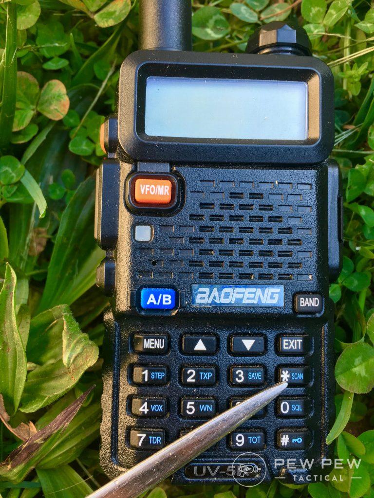 Baofeng UV-5R SCAN button