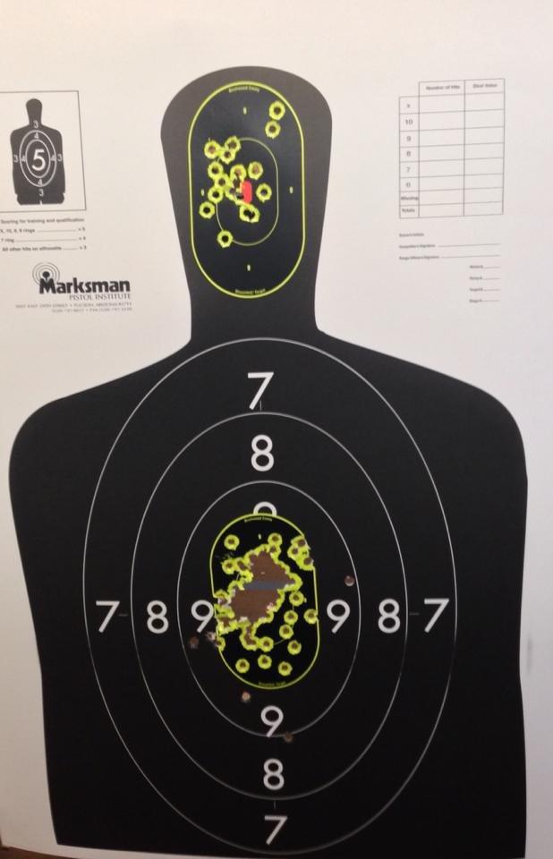 Head and center mass shots