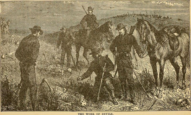 LT. Kidder and men dead by Tomahawks