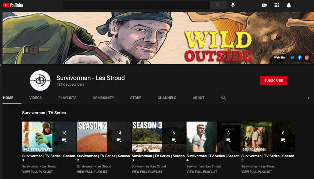 Survivorman YouTube