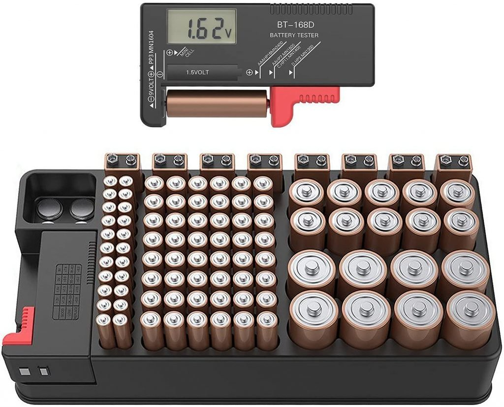 The Battery Organizer and volt meter
